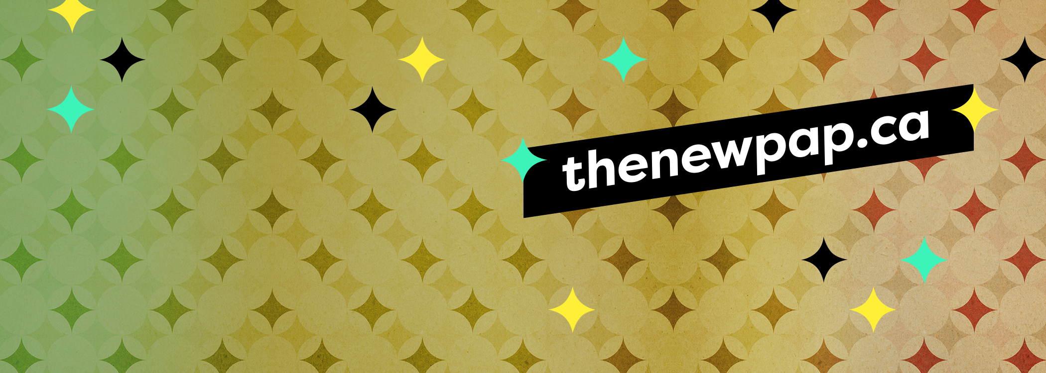 background with stars and name of website thenewpap.ca